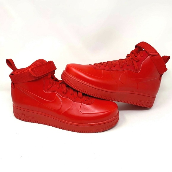 outlet store 60a1a a3684 Nike Air Force 1 Foamposite Cup NA University Red NWT